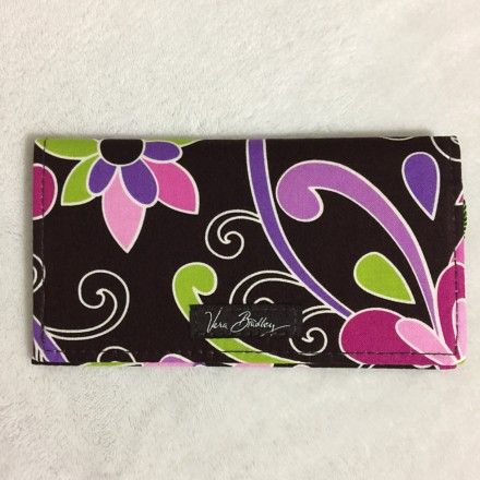 ac9897748f44 Vera Bradley Checkbook Cover Purple Punch