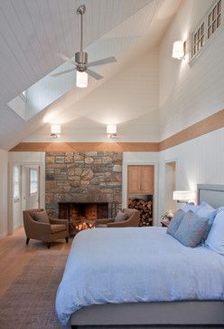 Master Bedroom Eclectic Bedroom Boston Solomon Bauer Giambastiani Architects Vaulted Ceiling Living Room Vaulted Ceiling Bedroom Sloped Ceiling Bedroom