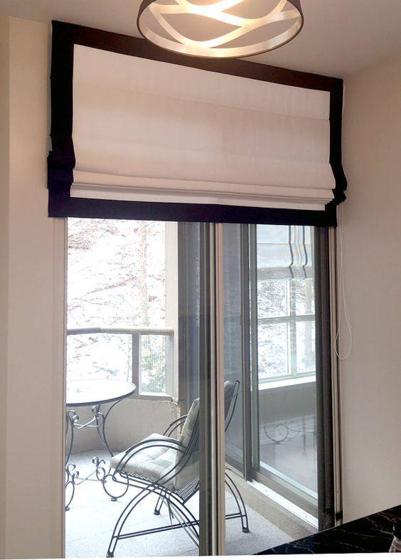 Black White Roman Blinds Perfect For Modern Interiors Modern