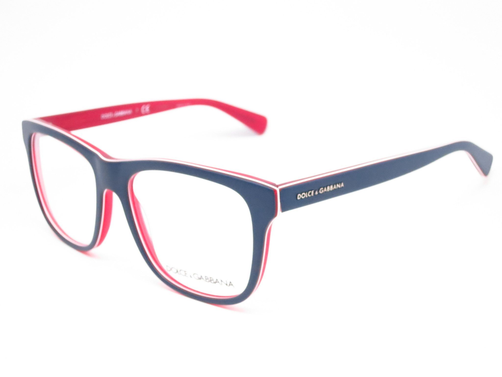 Dolce & Gabbana DG 3206 Top Blue on Matte Red Eyeglasses | Brille