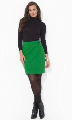Belted Wool Skirt - Lauren Short Skirts - RalphLauren.com #EasyNip