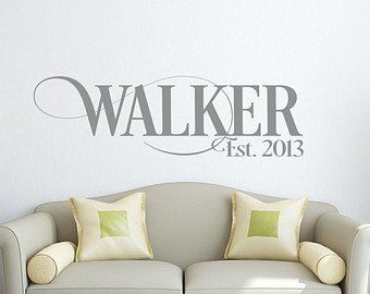Personalized family name signs wall decal etsy also established rh pinterest