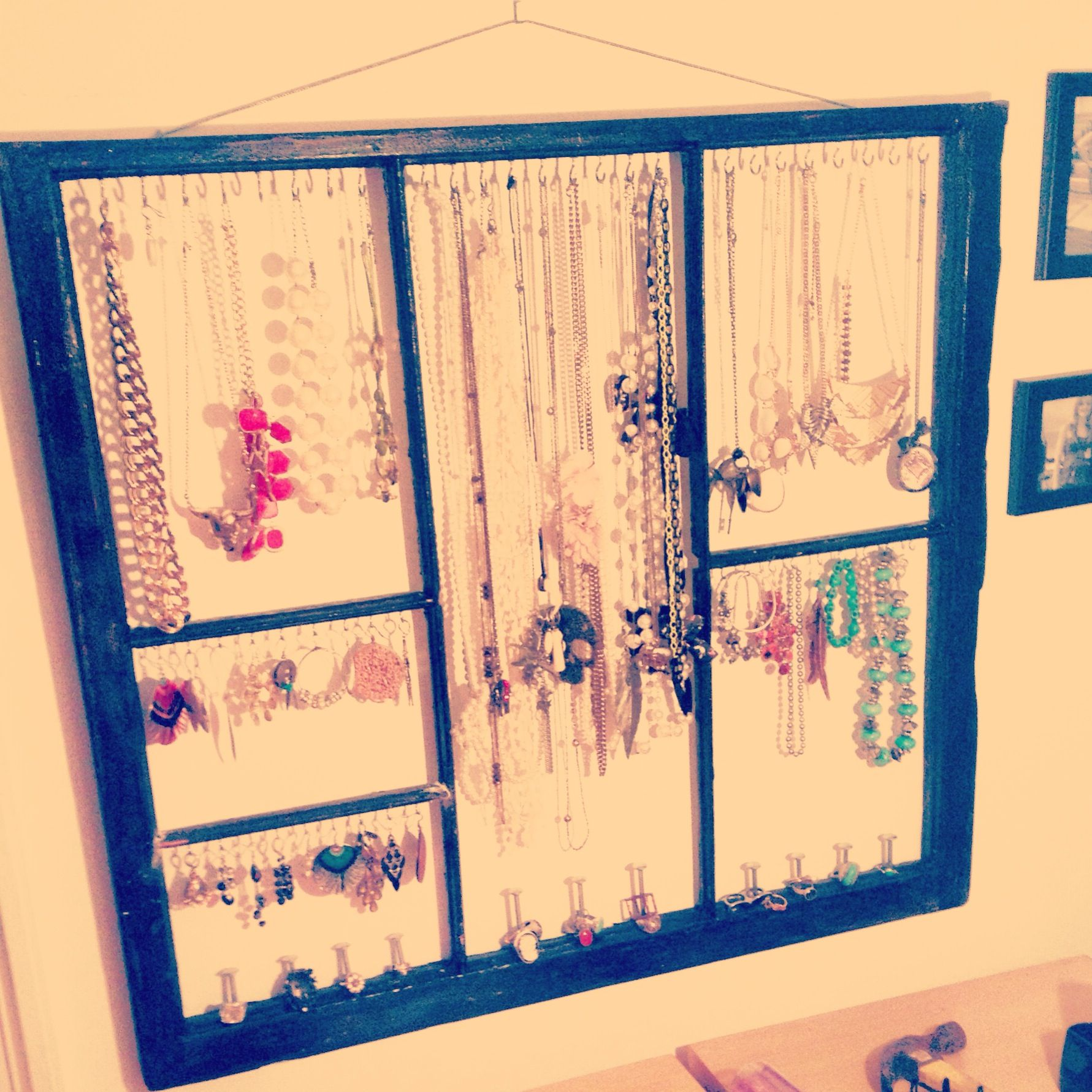 DIY jewelry holder out of old window | My Uploads/Photography ...