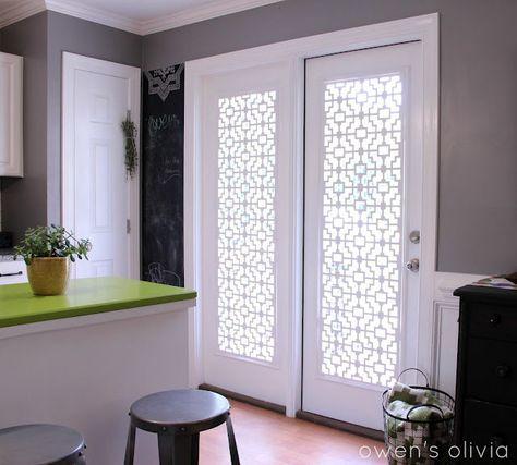 Window Treatment White Fret-pvc panels from Acurio Latticeworks ...