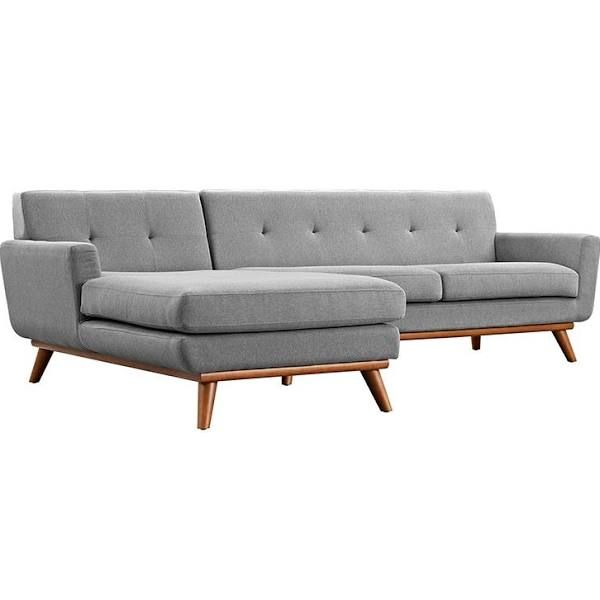 Superb Mid Century L Shaped Couch Sectional Sofa Grey Sectional Onthecornerstone Fun Painted Chair Ideas Images Onthecornerstoneorg