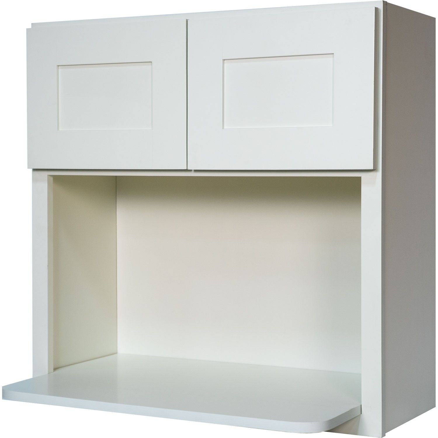 Microwave Wall Cabinet in Shaker White with 2 Soft Close Doors ...