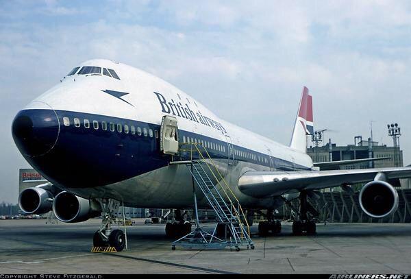 British Airways B747-100
