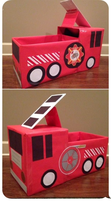 Fire truck from copy paper box for Childrenu0027s church My Portfolio - copy children's abc coloring pages