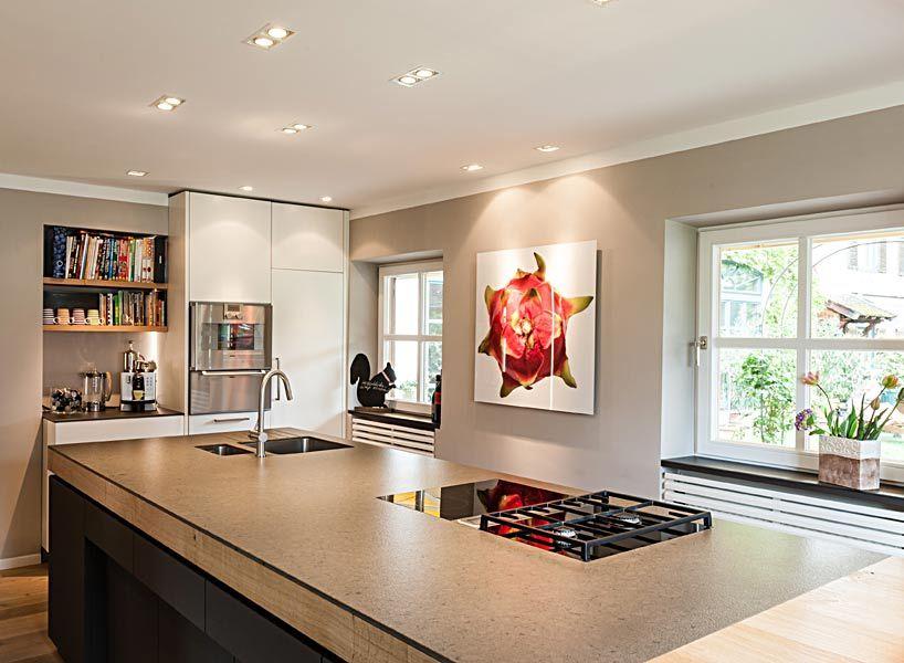 Kücheninsel Edelstahl ~ Kochinsel vom schreiner mit edelstahl arbeitsplatte angelika b