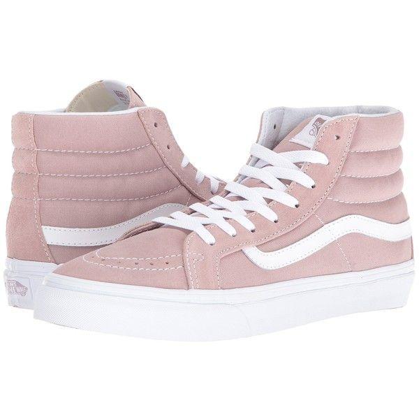 a708d395780be Vans SK8-Hi Slim ((Suede Canvas) Fawn True White) Skate Shoes ( 65 ...