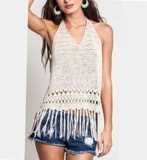Malibu white ivory crochet lace crop tank top, white,black,crochet tank top, fringed bikini top , boho festival lace tank top, bridal top #crochettanktops