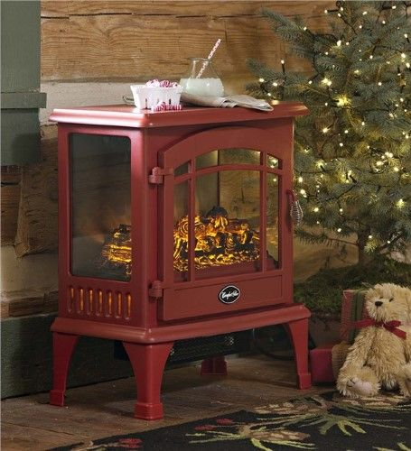 Panoramic Quartz Infrared Stove Heater In Red Stove