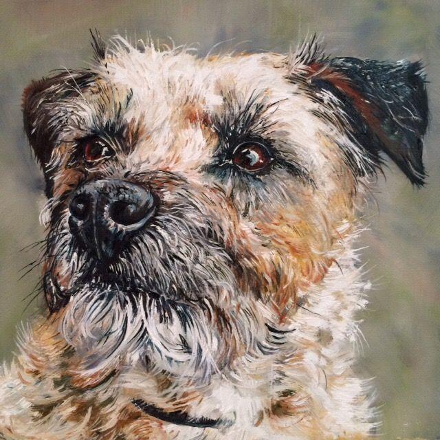 Border Terrier Painting 2015 Border Terrier Dog Paintings Terrier