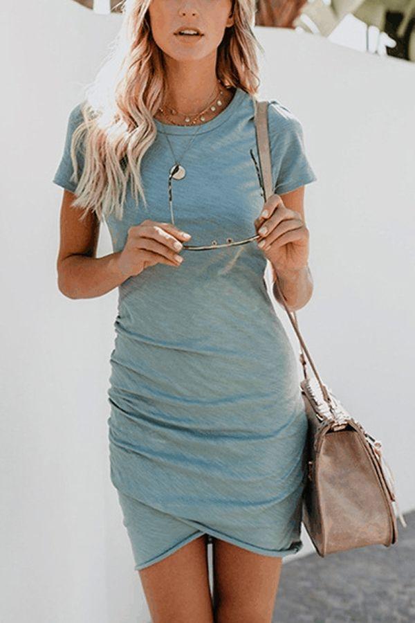 Lovely Summer Cotton Mini Dress #summer# summer boho# boho summer dress# boho mi…