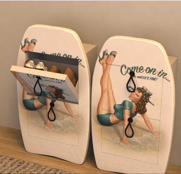 Pinup shoe rack  www.adesigns21.com