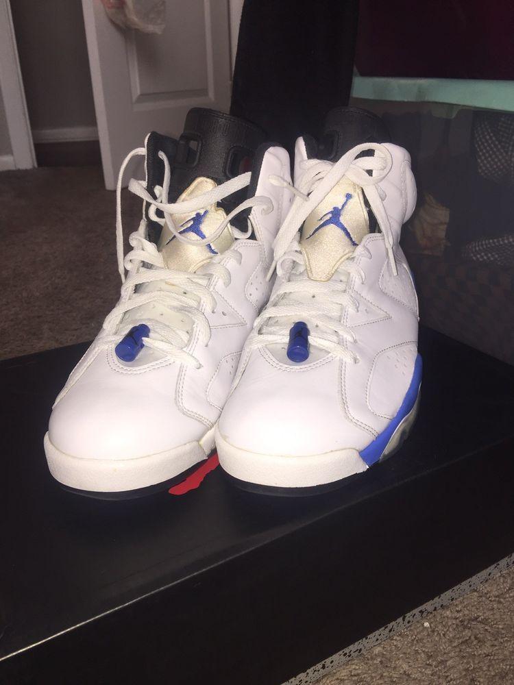online retailer 8a622 d234a NIKE AIR JORDAN RETRO 6 SPORT BLUE SZ 11 384664-107 WHITE ROYAL BLUE VNDS   fashion  clothing  shoes  accessories  mensshoes  athleticshoes (ebay link)