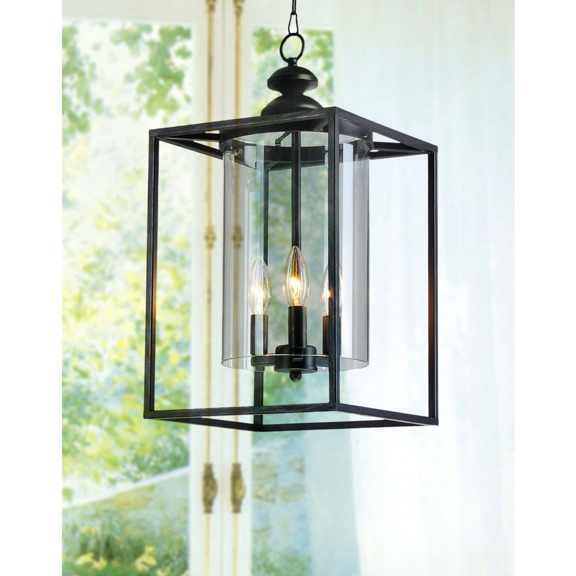 La pedriza antique black 3 light glass and metal chandelier la pedriza antique black 3 light glass and metal chandelier lantern arubaitofo Gallery
