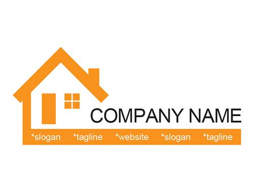 RE00004-בית-לוגו-תבנית | סהר שיפוצים | Pinterest | House logos ...