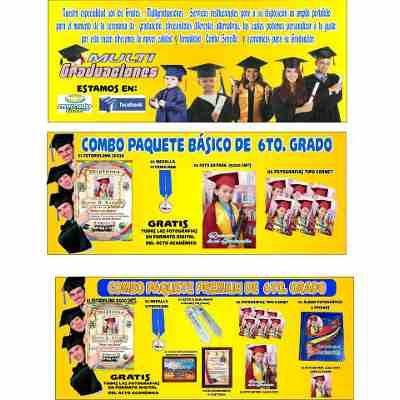 Paquetes De Graduacion Preescolar, Sexto Grado Y Bachiller