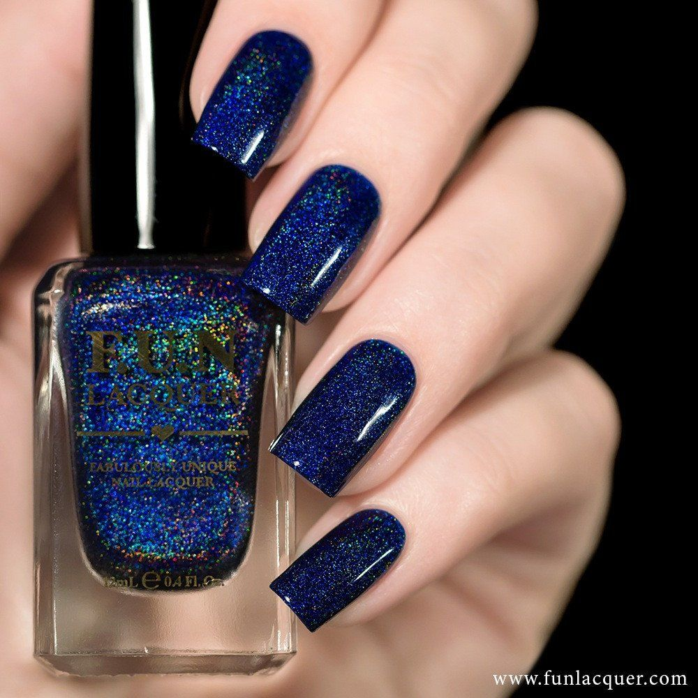 F.U.N Lacquer - Starry Night Of The Summer | Navy blue nail polish ...