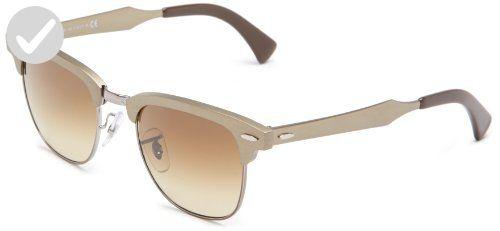 bfe0e4e5d160c ... netherlands ray ban clubmaster aluminum brushed bronze gunmetal frame  light brown lenses 51mm non polarized sunglasses