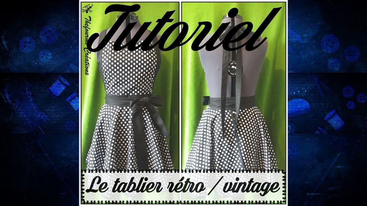 Tuto couture - Coudre un tablier rétro … | tabliers | Tabli…