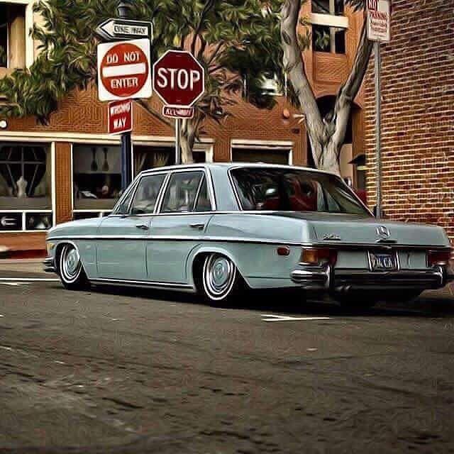 Mercedes Benz Classic Old German Car Stanceworks W108 W114