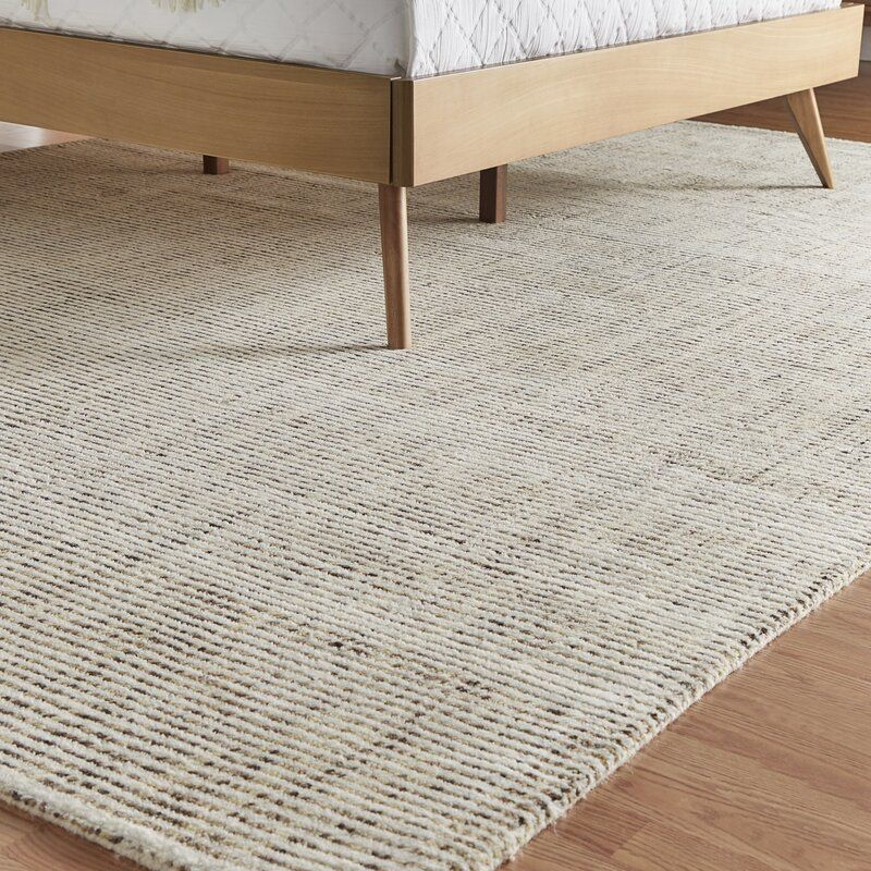 Mercury Row Handwoven Striped Handmade Flatweave Wool Beige Area Rug Beige Area Rugs Rugs On Carpet Area Rugs