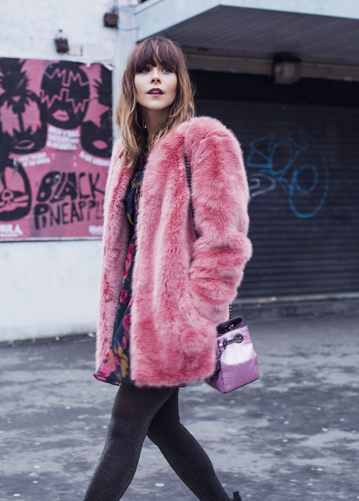 e731957e93a the best faux fur coats Pink Faux Fur Coat, Faux Fur Coats, Faux Fur