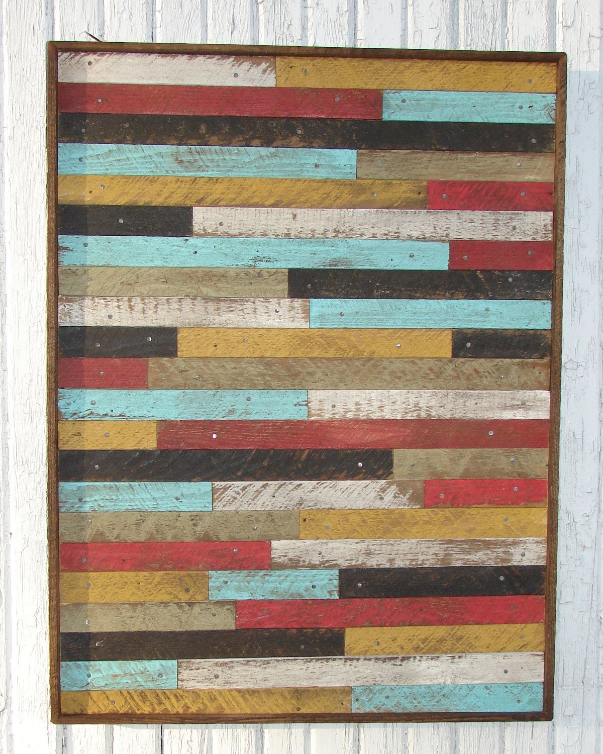 Reclaimed Wood Art Large Pottery Barn Style Inspired Reclaimed Wood Lathe Wall Art