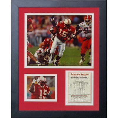 Legends Never Die Tommie Frazier Framed Memorabilia