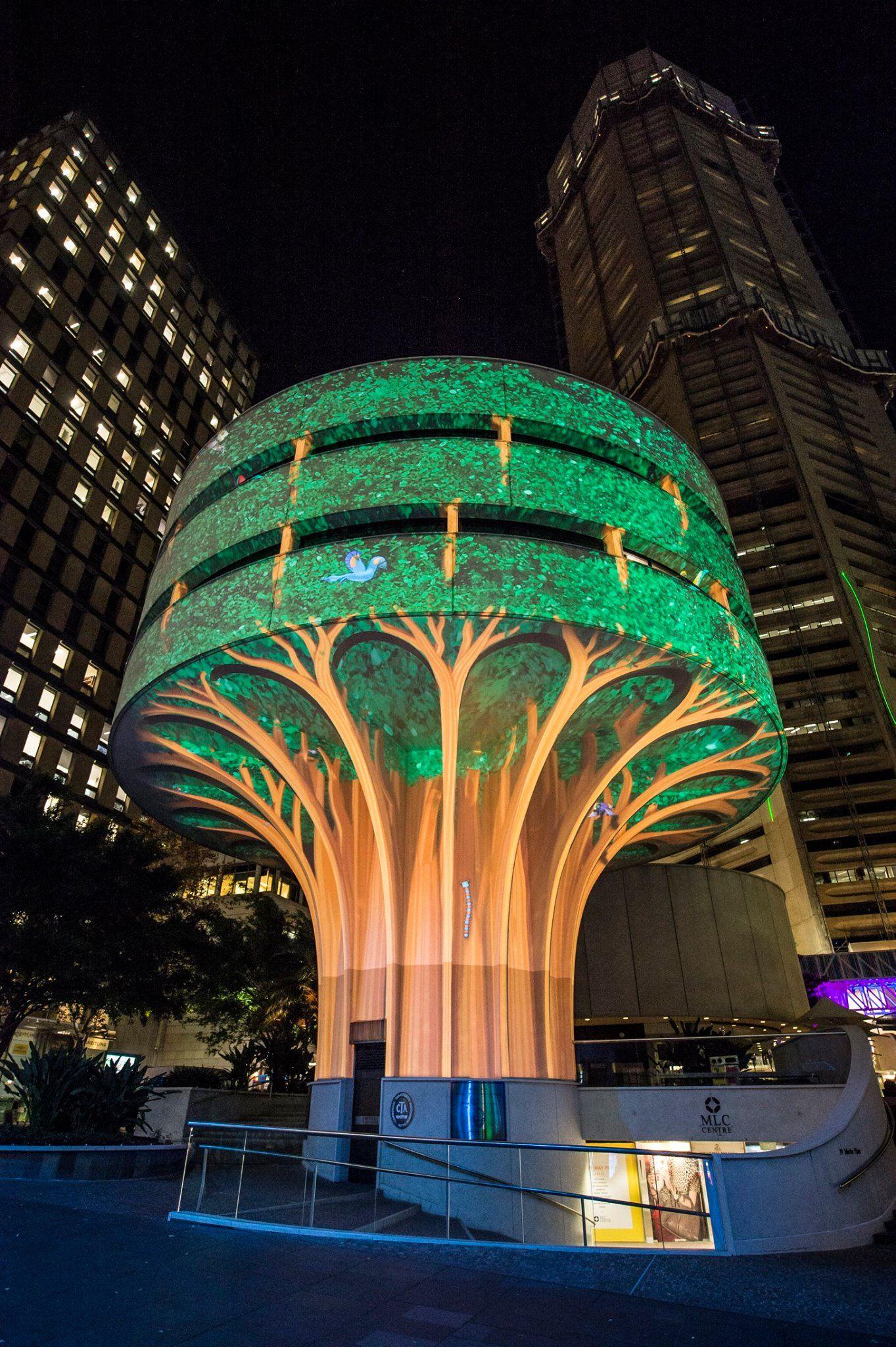 Downtown Sydney Transformed by Light for Vivid Sydney  Sydney projection light exhibition