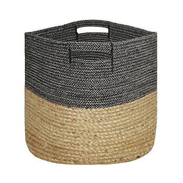 Round Woven Storage Basket- Dark Grey - Threshold Multi-Colored ($20)  sc 1 st  Pinterest & Round Woven Storage Basket- Dark Grey - Threshold Multi-Colored ...
