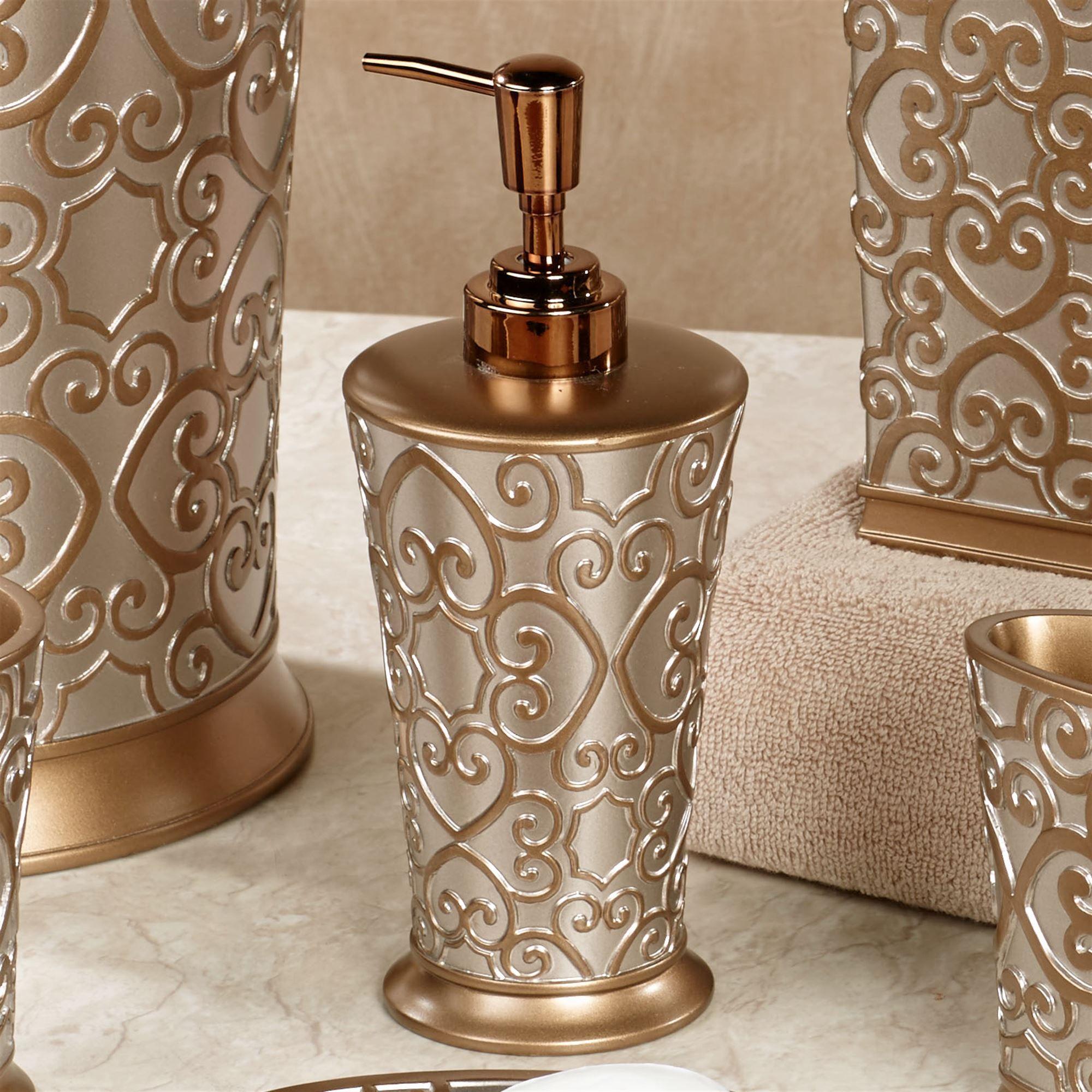 Allure Silver And Gold Bath Accessories Bath Accessories Gold Bathroom Accessories Bathroom Accessories