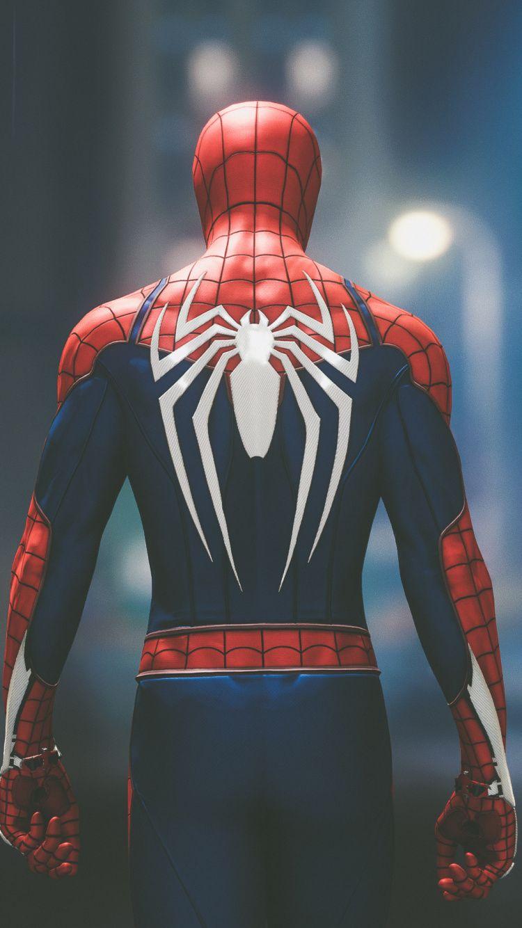 Back Spider Man Ps4 Video Game 2018 750x1334 Wallpaper Spiderman Spider Man 2018 Marvel Spiderman