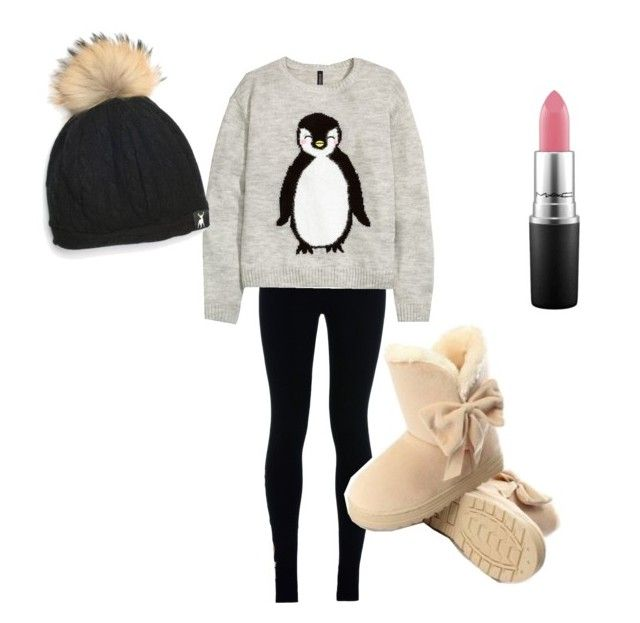 """Sweater Outfit No. 1"" by styledbysugar ❤ liked on Polyvore featuring NIKE, H&M and MAC Cosmetics"