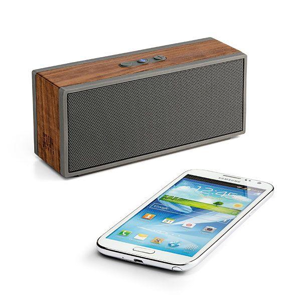 Solid Walnut Wireless Bluetooth Speaker System