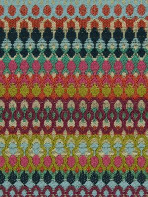 Aqua Orange Upholstery Fabric Woven Textured Heavyweight Fabric Purple Green Geometric Home Decor Fabric For Furniture Upholstery