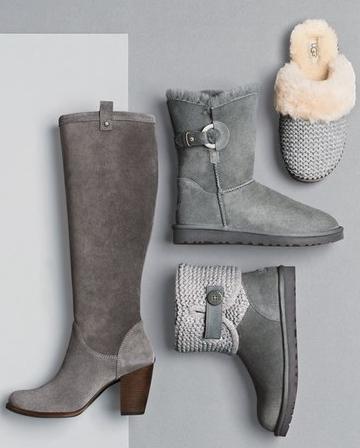 UGG grey boots set