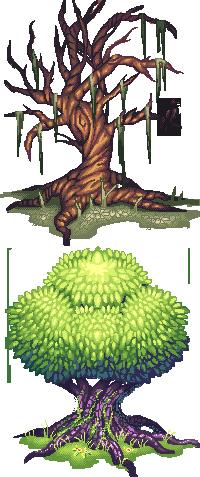 Pixel Trees by AmandaKieferArt.deviantart.com on @deviantART