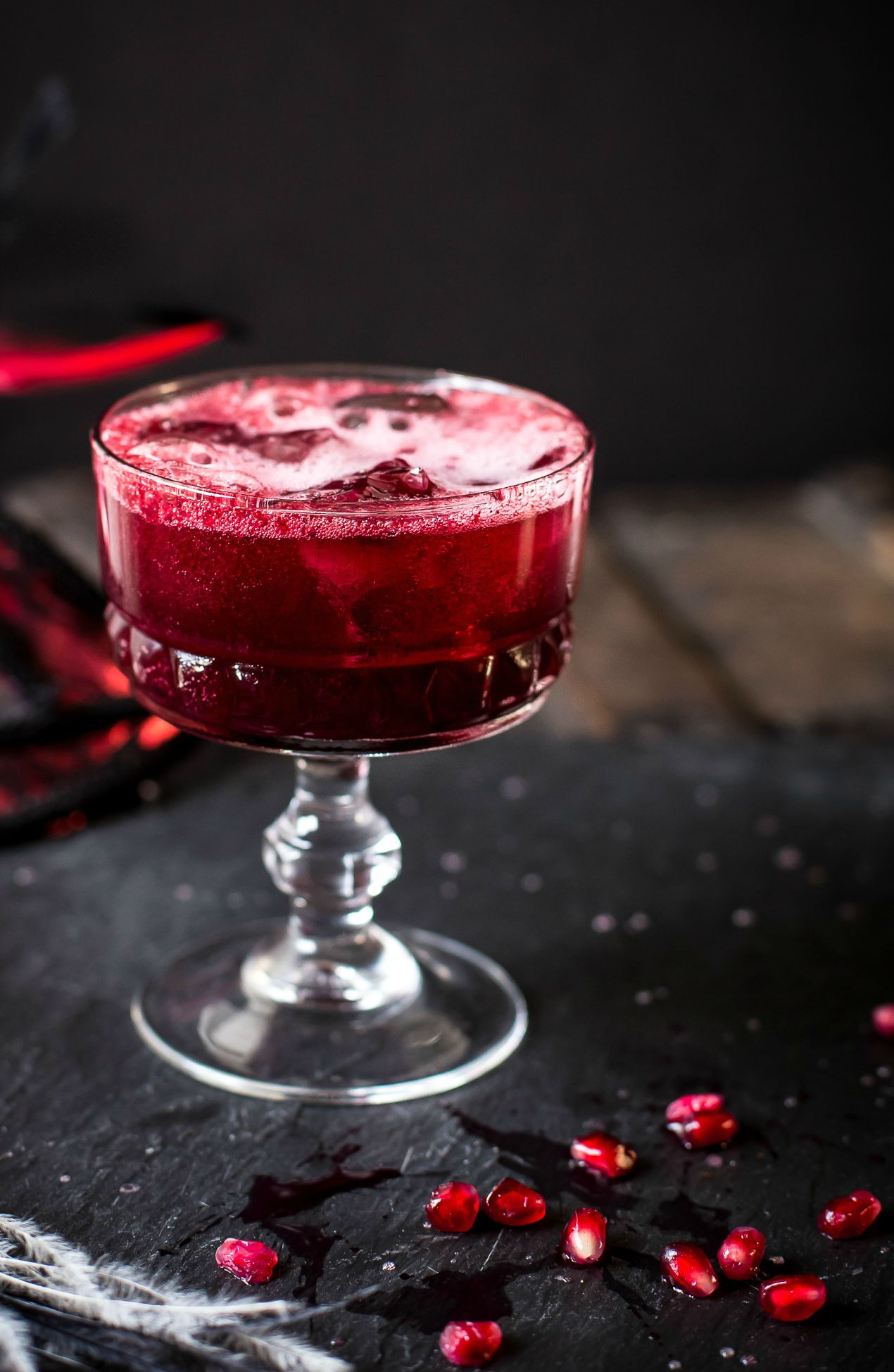 This Sparkling Berry Crush Is Light And Refreshing Made With Crushed Seasonal Berries And Pomegranate Seeds It Boasts Deep Food Berries Valentine S Day Drinks