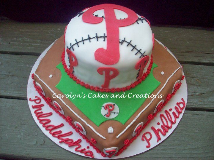 Phillies cakemy husbands 30th birthday cake will be a