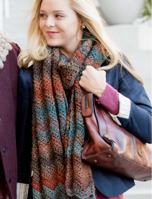 Premier® Super Ripple Crochet Scarf | Knitting - Crocheting | Pinterest