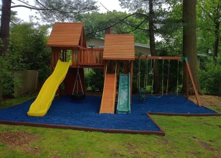 Because One Slide Is Never Enough Playsafe Roosterrubber Playground Rubberm 1000 In 2020 Rubber Playground Playground Rubber Mulch Rubber Mulch