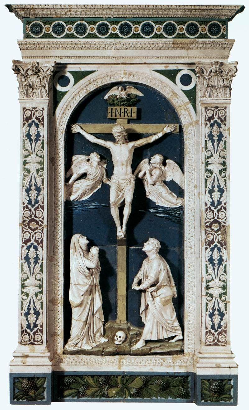 Luca della Robbia, Crucifixion, 1465.
