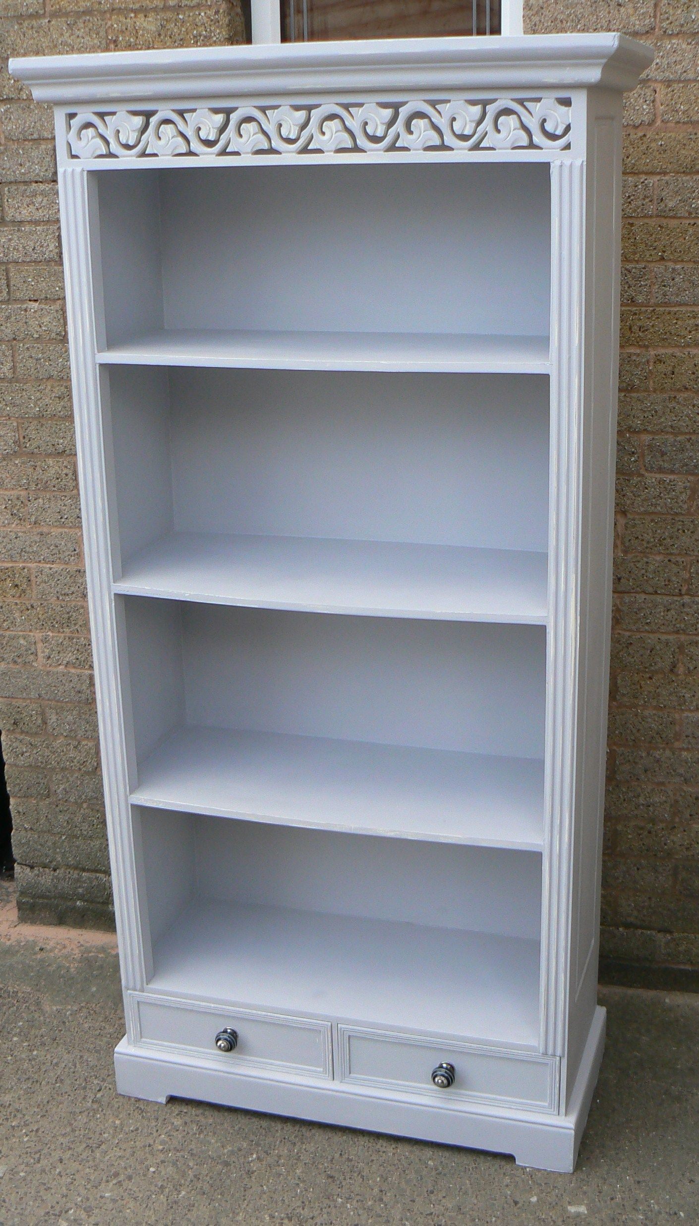 Bookcase in Autentico #Cement #chalkpaint   Furniture   Pinterest ...