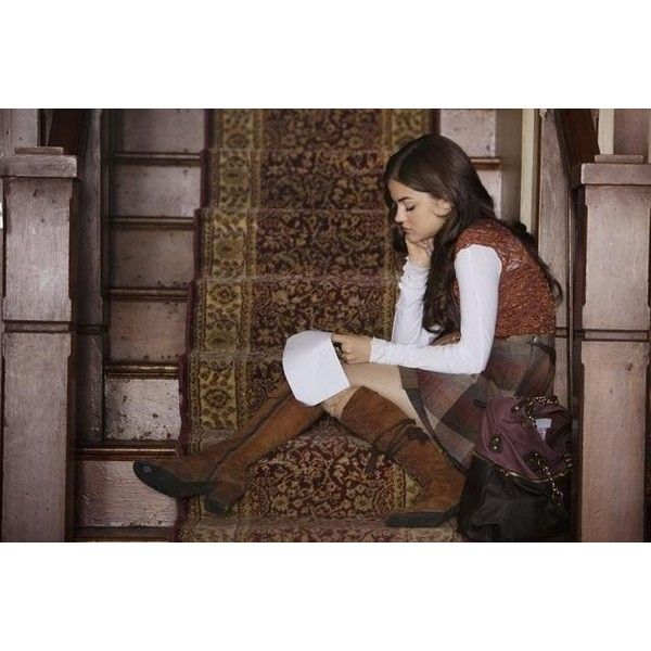 Pictures & Photos of Aria Montgomery - IMDb ❤ liked on Polyvore featuring lucy hale, pretty little liars, aria montgomery, girls and pll
