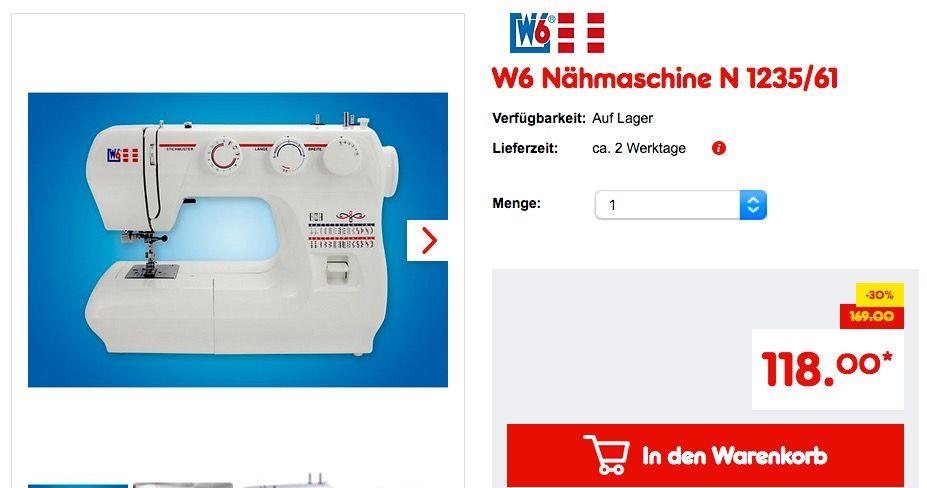 W6 Nahmaschine N 1235 61 W6 Nahmaschine Kuche Und Haushalt Und Haushalt