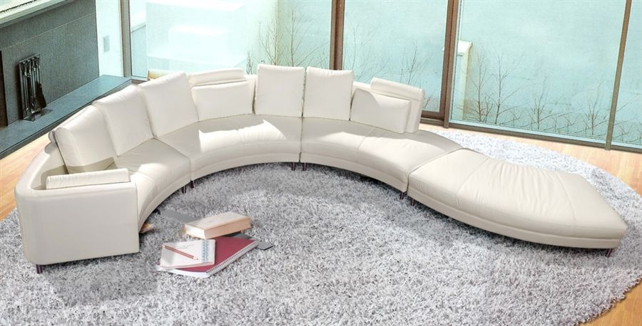 Modern Style Sectional Sofa Curved Tos Lf 4522 Corner Sectional