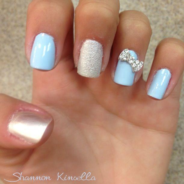 Cinderella Inspired Nails Quinceanera Nails Cinderella Nails Disney Nails